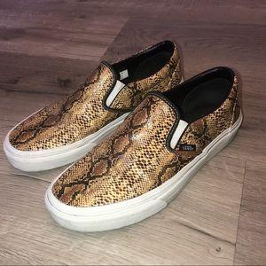 Leather Snakeskin Vans